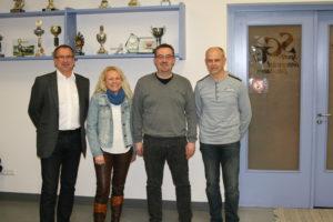 Die alte und neue SGE-Vorstandschaft: Von links Oswald Prummer (1. Vorsitzender), Alexandra Berger (Schriftführerin), Friedrich Hora (2. Vorsitzender) und Hubert Mayr (Kassier)