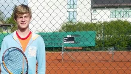 Die Nummer eins der SGE-Knaben 16, Benedikt Gerl, der seine beiden Einzel 2017 gewann